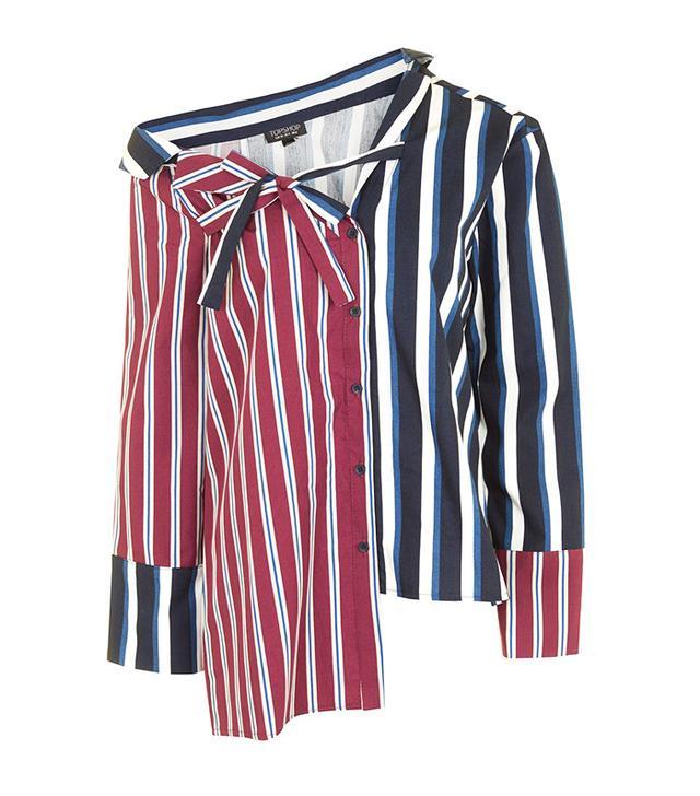 Topshop Stripe Re-Worked Shirt