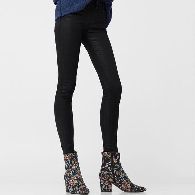 Violeta Coated Slim-Fit Carmen Jeans