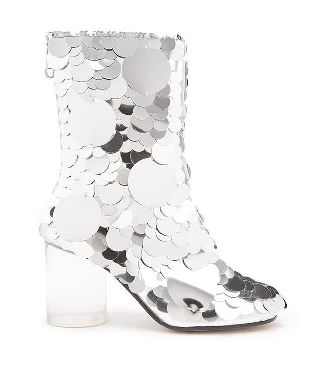 Maison Margiela Disc-Sequin Embellished Ankle Boots