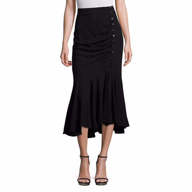 Michael Kors Collection Silk Asymmetric Skirt