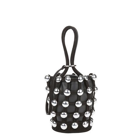 Roxy Studded Leather Mini Bucket Bag