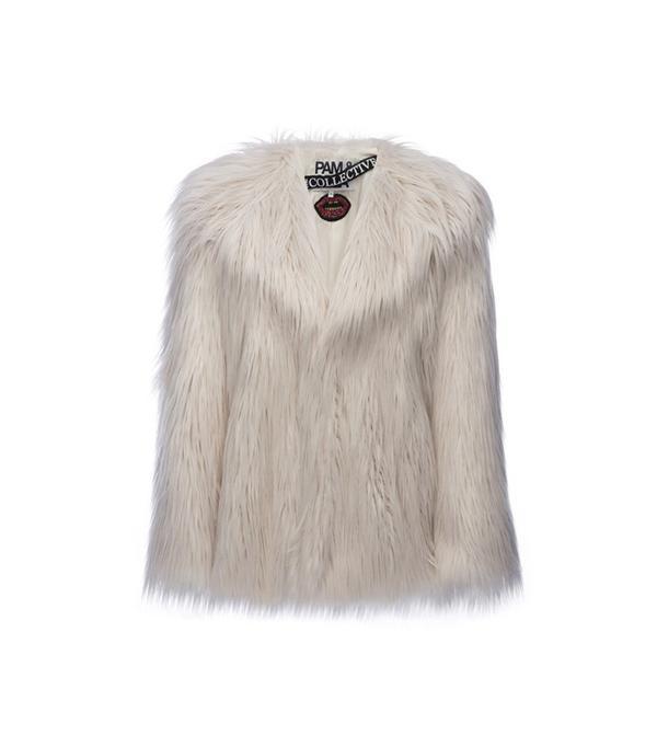 Pam & Gela The Collective Faux Fur Coat