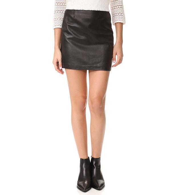 Mackage Alva Leather Skirt