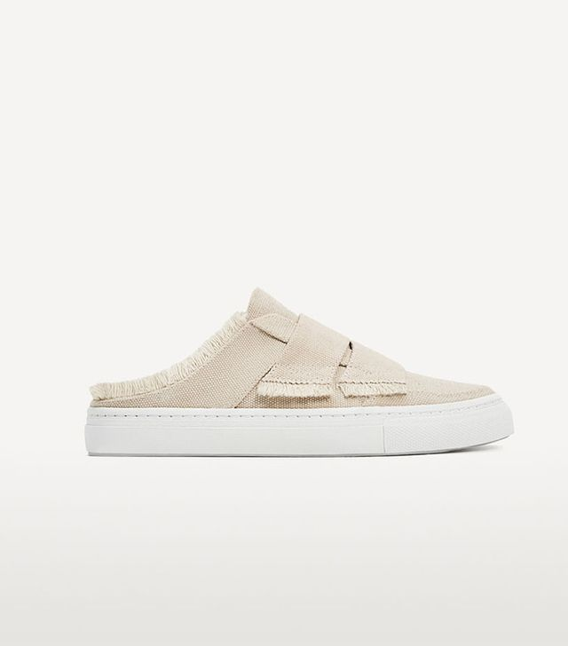 Zara Frayed Edge Mule Sneakers