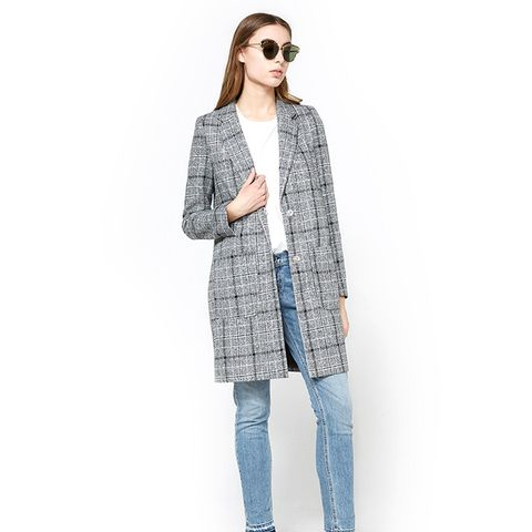 Plaid Oversized Coat