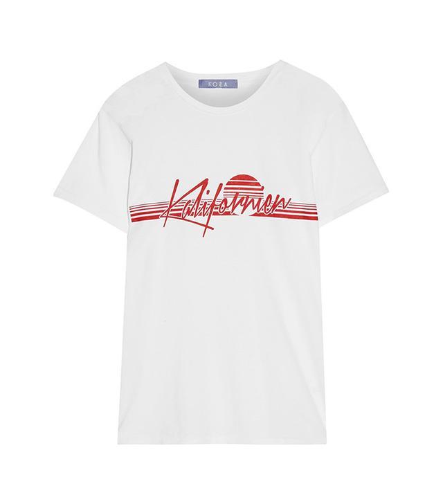 Koza Kalifornien Printed Cotton-Jersey T-Shirt