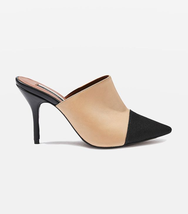 Topshop Gwen2 Pointed Toe Cap Mules