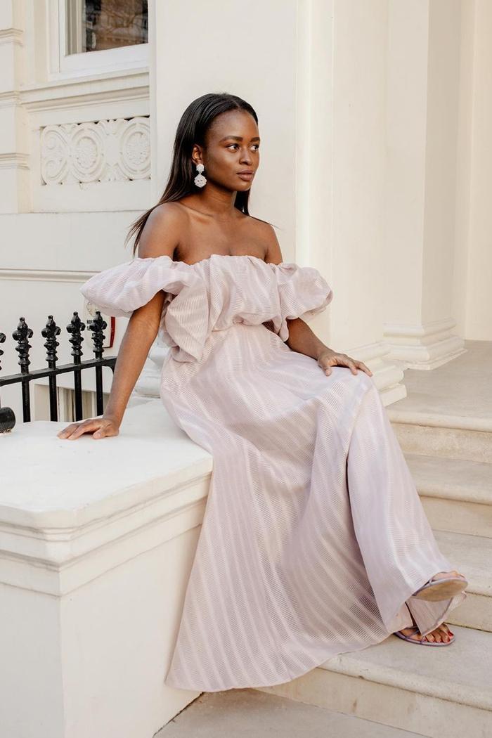 Best Asos Dresses: Nicole Ocran wears a vintage-print asos dress
