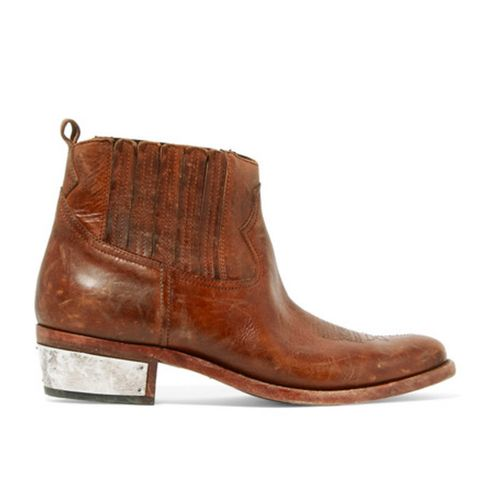 Crosby Distressed Leather Ankle Boots