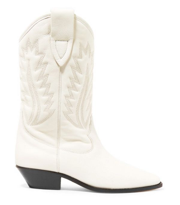 Cowboy boot trend: Isabel Marant Étoile Dallin Embroidered Leather Boots