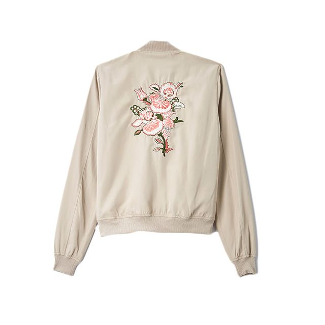 Candie's Ruffle Front Bomber Jacket