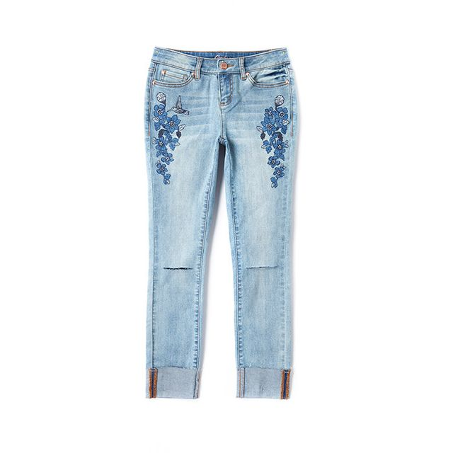 Candie's Floral Ripped Skinny Jeans