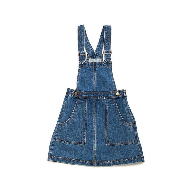 Candie's Denim Pinafore Dress