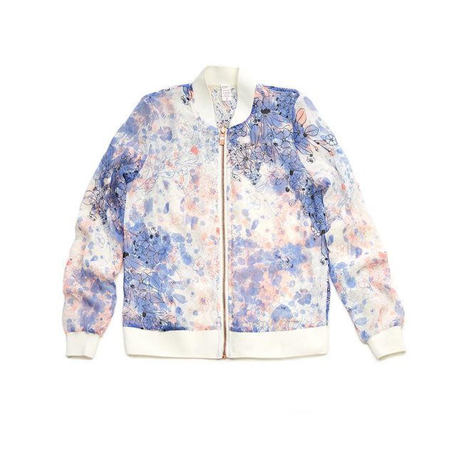 Candie's Reversible Lace Floral Bomber Jacket