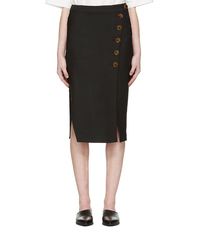 Khaite Black Miriam Skirt