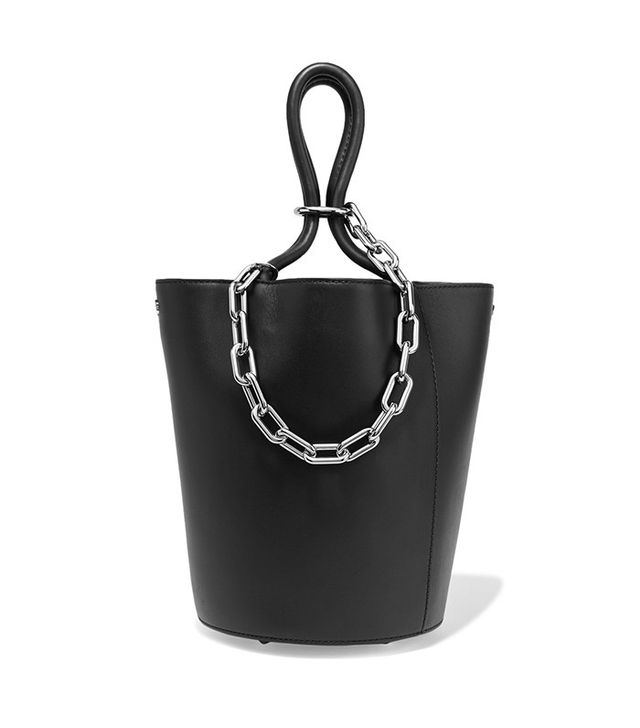 Alexander Wang Roxy Chain-Embellished Leather Tote