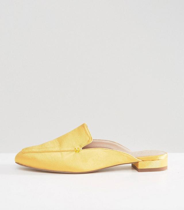 ASOS Lashes Square Toe Ballet Mules