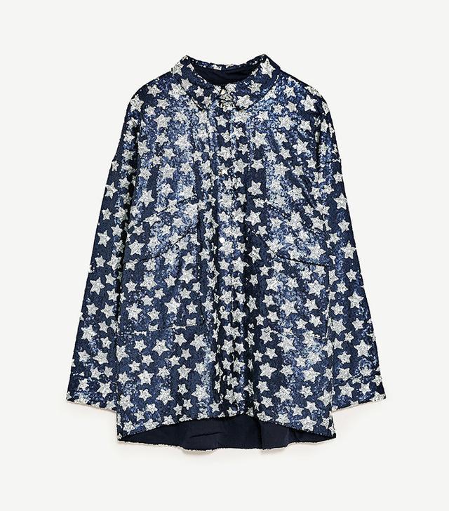 Zara Sequined Stars Jacket