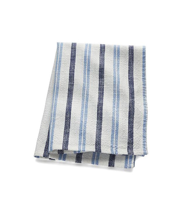 Crate and Barrel Farmhouse Blue Stripe Dish Towel