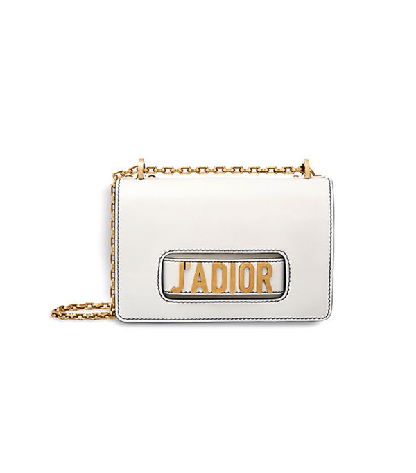 Dior J'Adior Flap Bag With Chain in Off-White Calfskin