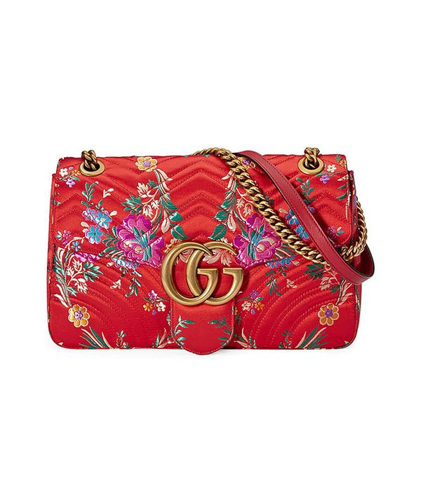Gucci GG Marmont Medium Jacquard Shoulder Bag