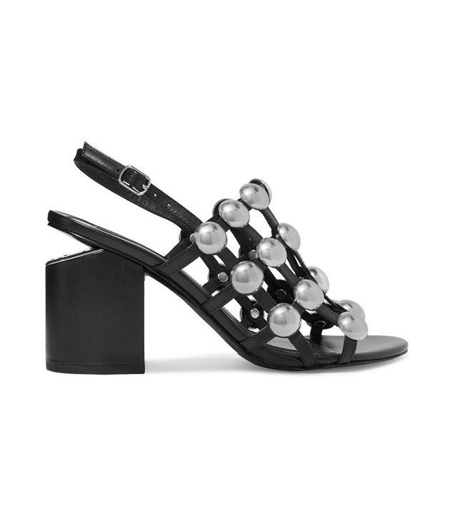 Alexander Wang Nadia Studded Leather Slingback Sandals