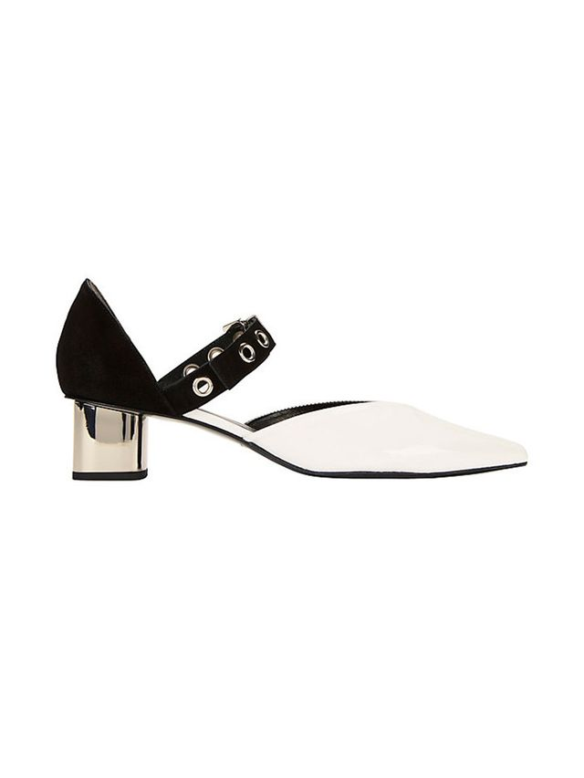 Robert Clergerie x Self Portrait Sasa Grommet Strap Mid Heel Pumps