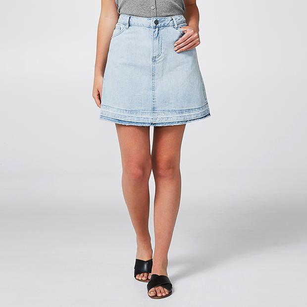 Target Lily Loves Raw Hem Skirt