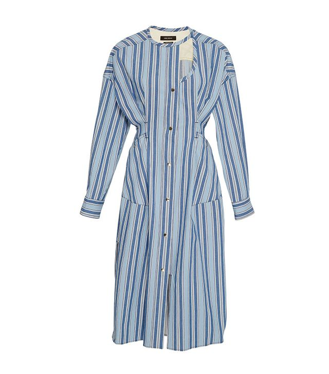 Isabel Marant Selby Striped Round Neck Dress