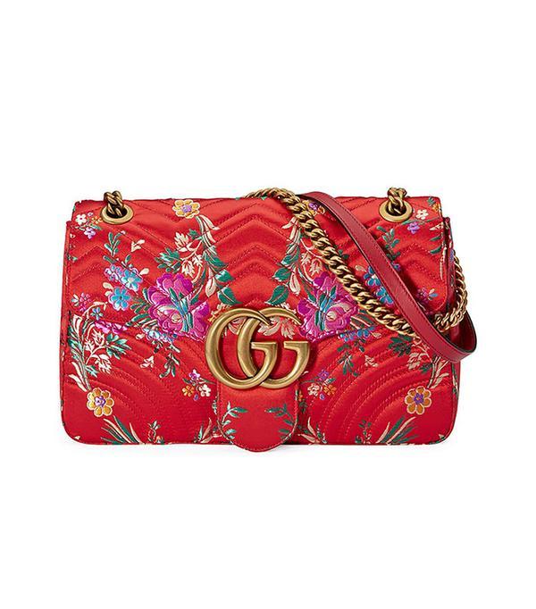 Gucci GG Marmont Medium Jacquard Shoulder Bag