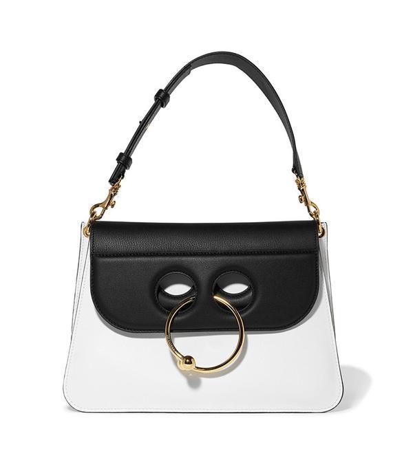 J.W. Anderson Pierce Medium Two-Tone Leather Shoulder Bag