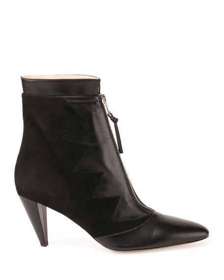 Altuzarra Fontana Zigzag Zip-Front Ankle Boot