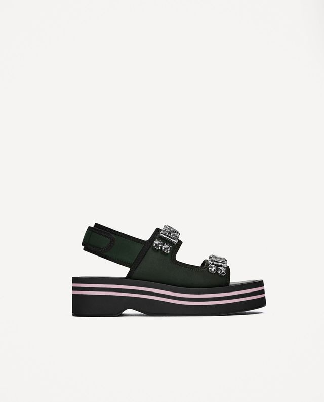 Zara Gem Platform Sandals