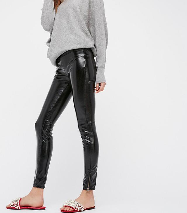 Free People Patent Vegan Leather Leggings