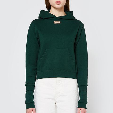 Double Sleeve Hoodie in Green