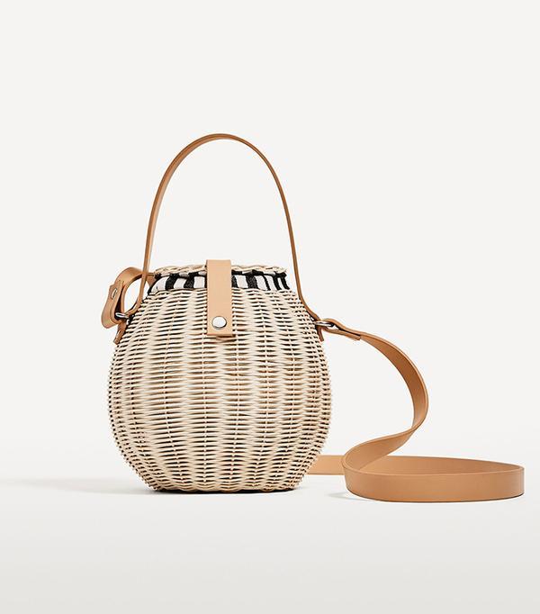 Zara Raffia Bucket Bag