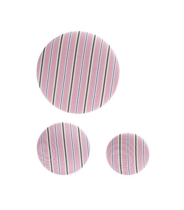 Balenciaga Set of 3 Striped Earrings