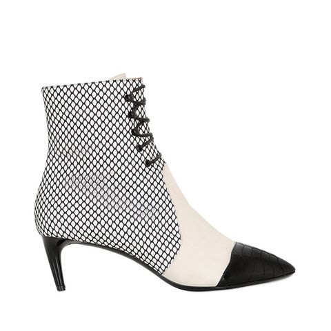 55mm Macumba Mesh & Leather Ankle Boots
