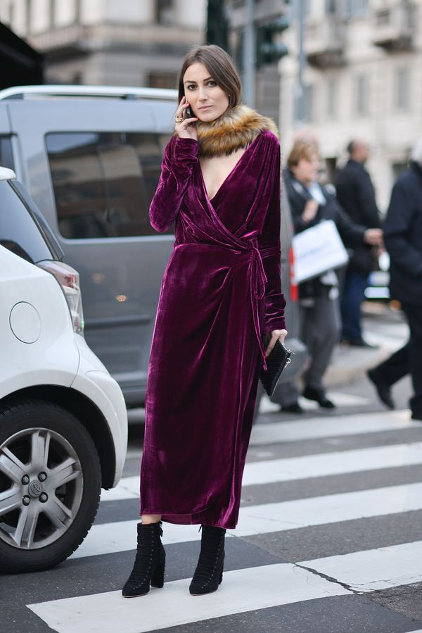 A velvet dress is the perfect way to look elevated, and still stay warm.