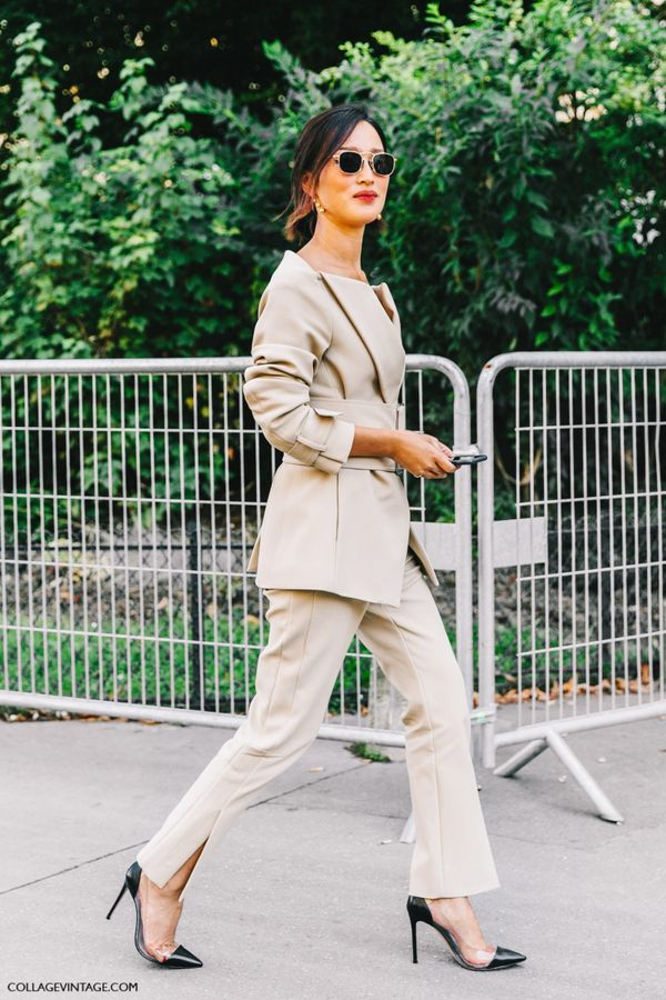 A suit for a wedding might feel a bit corporate, but with the right accessories you can make anything work. Add a pair of drop earrings and fun shoes to take this look away from 'work'.