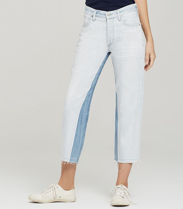 Citizens of Humanity Cora Cropped Relaxed Undone Hem Jeans