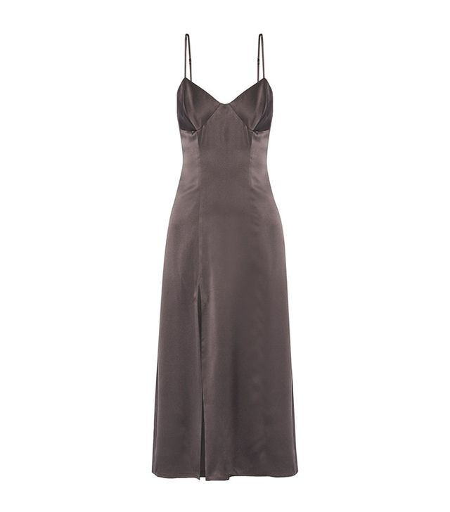 Michelle Mason Satin Midi Dress