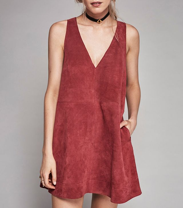 Free People Retro Love Suede Dress