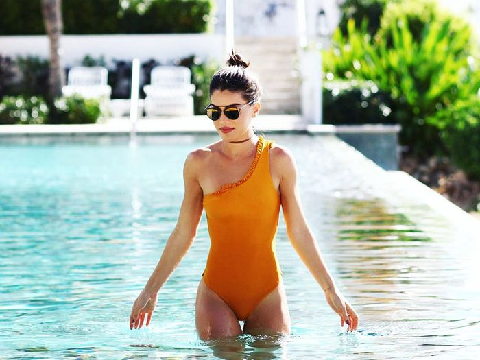 The One Feature That Makes a One-Piece Swimsuit More Flattering