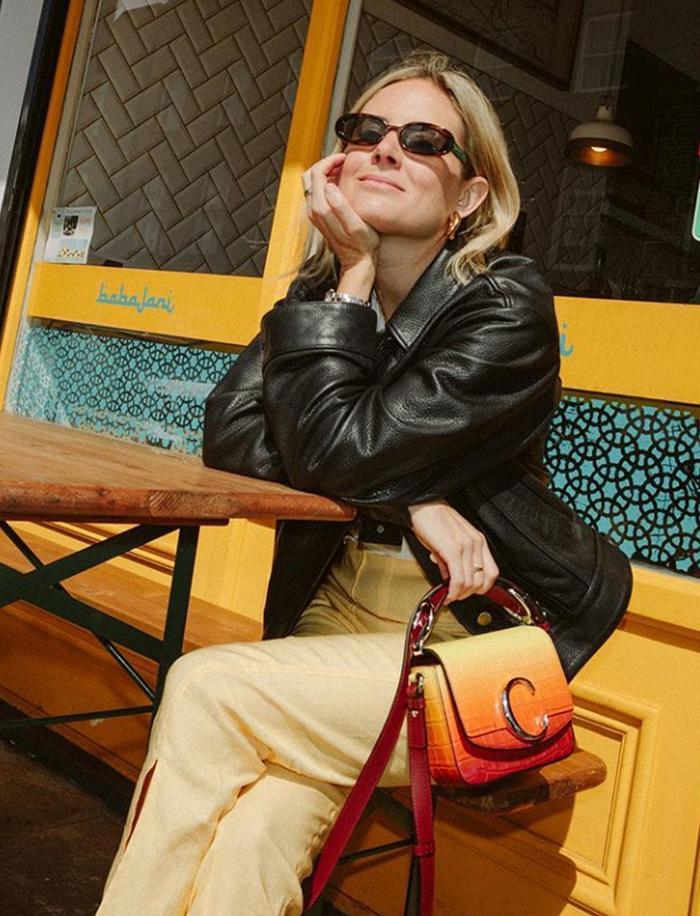 best chloe bags: lucy williams wearing a chloe c bag