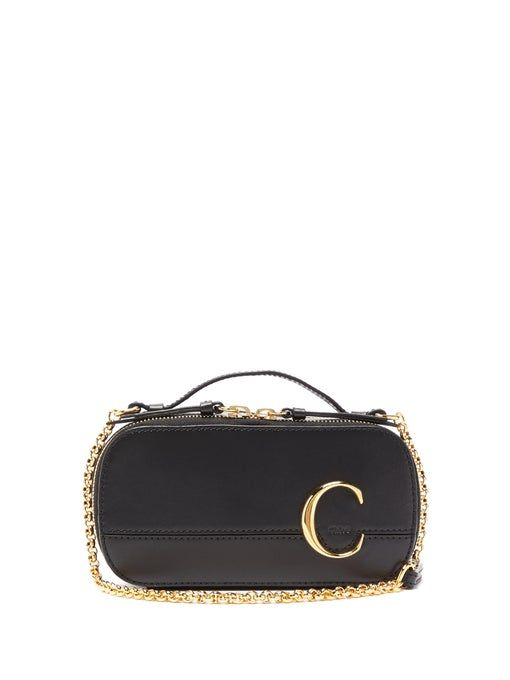 Chloé The C Structured Leather Cross-Body Bag