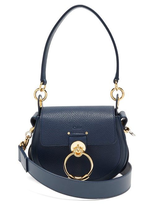 Chloé Tess Small Grained-Leather Shoulder Bag