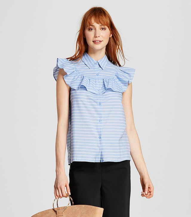 Who What Wear Women's Sleeveless Pioneer Shirt
