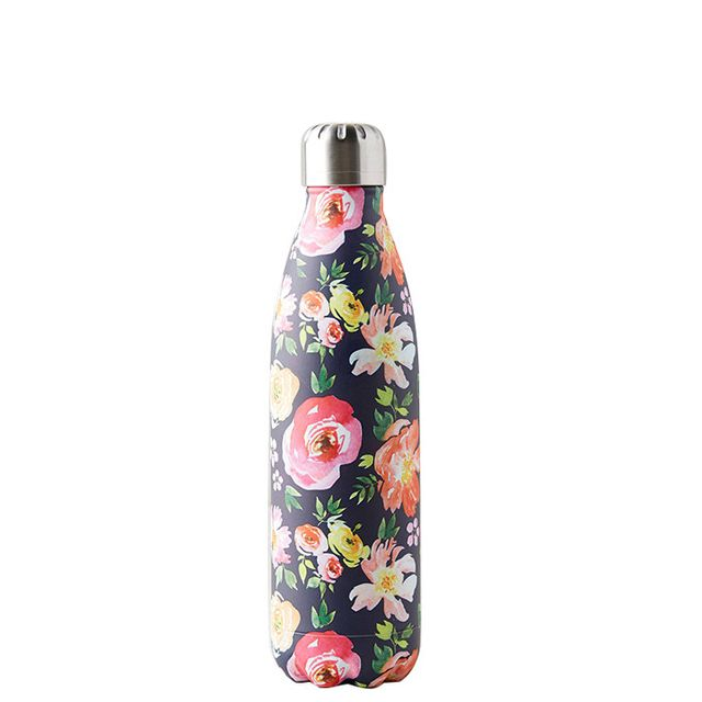 floral water bottle