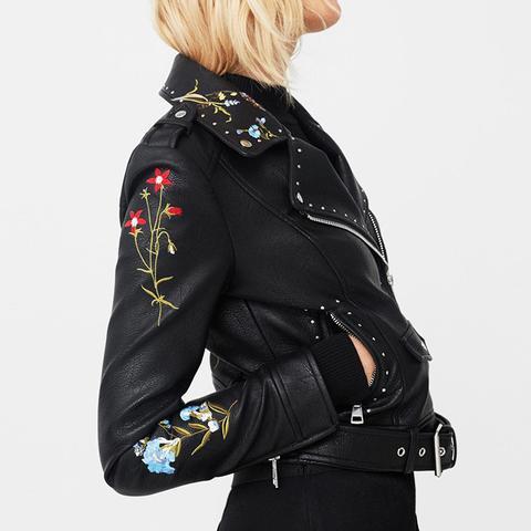 Embroidered Stud Jacket